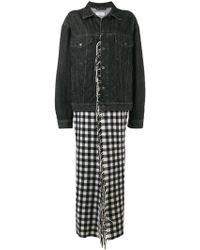 Balenciaga - Fringes Blanket Denim Jacket - Lyst