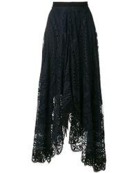 Chloé - Lace Cotton Skirt - Lyst