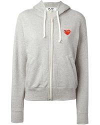 Comme des Garçons - Play Zip Hooded Sweatshirt - Lyst