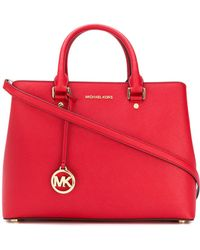 MICHAEL Michael Kors - Savannah Leather Shiulder Bag - Lyst
