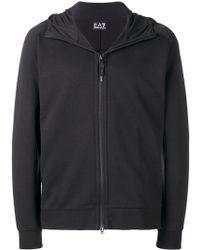 EA7 - Zipped Hoodie Sweatshirt - Lyst