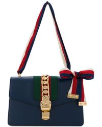 Gucci - Sylvie Leather Shoulder Bag - Lyst