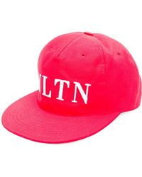 Valentino - Hat With Light Canvas Visor. - Lyst