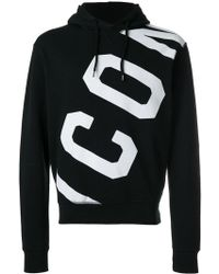 DSquared² - Printed Icon Hooded Sweatshirt - Lyst