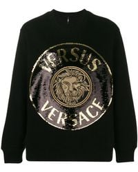 Versus - Lion And Logo Printed Sweatshirt - Lyst