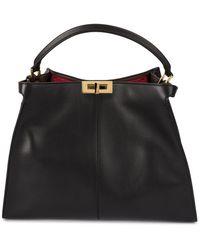8dea64ecf5 Fendi - Peekaboo Leather Shoulder Bag - Lyst