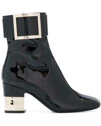 Roger Vivier | Patent Podium Ankle Boots | Lyst