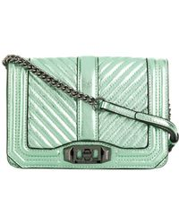Rebecca Minkoff - Leather Handbag Chevron Quilted Small Love - Lyst