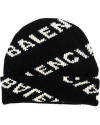 Balenciaga - Logo Jacquard Beanie - Lyst