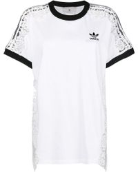 Stella McCartney - Sheer Lace T-shirt - Lyst