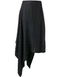 Palmer//Harding - Striped Asymmetric Skirt - Lyst