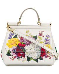 5a1447604884 Lyst - Dolce   Gabbana Miss Linda Petal Lace Shoulder Bag in Black