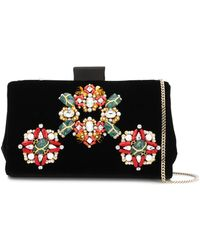 Roger Vivier - Jewels Embroidered Soft Clutch - Lyst