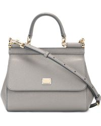 Dolce & Gabbana - Sicily Dauphine Leather Bag - Lyst