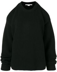 Stella McCartney - Nude Shoulders Crew Neck Sweater - Lyst