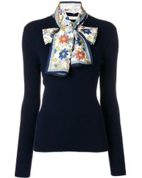 Tory Burch - Laura Jumper With Scarf - Lyst
