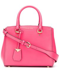 MICHAEL Michael Kors - Benning Leather Handbag - Lyst