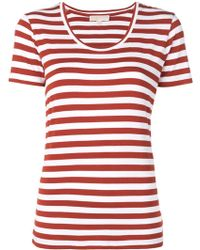 MICHAEL Michael Kors - Striped Cotton T-shirt - Lyst