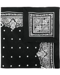 Dolce & Gabbana - Logo Print Cotton Bandana - Lyst