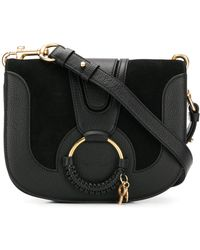 See By Chloé - Hana Suede And Leather Crossbody Bag - Lyst