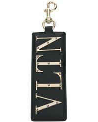 Valentino - Vltn Leather Key Ring - Lyst