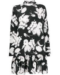Ganni - Ruffled Flared Dress - Lyst