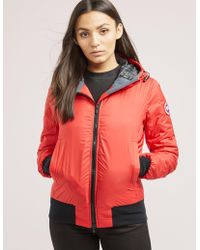 Canada Goose - Womens Dore Lightweight Padded Jacket Red - Lyst