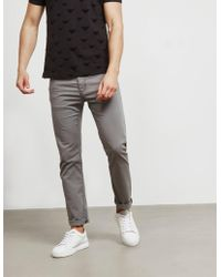 Emporio Armani - Mens Straight Leg Trousers Grey - Lyst