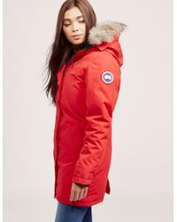 Canada Goose - Womens Victoria Padded Parka Jacket Red - Lyst