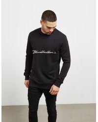 Blood Brother - Mens Italic Sweatshirt Black - Lyst