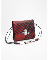 6fb739d59a0 Vivienne Westwood - Checked Shoulder Bag - Online Exclusive Red - Lyst