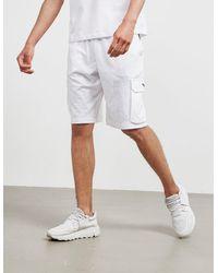 Emporio Armani Loungewear Tape Cargo Shorts White