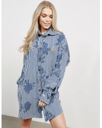 Vivienne Westwood - Womens Anglomania Chaos Shirt Dress - Online Exclusive Blue - Lyst