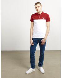Emporio Armani - Mens Block Short Sleeve Polo Shirt Red - Lyst