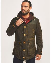 Barbour - Mens Game Hood Padded Parka Green - Lyst
