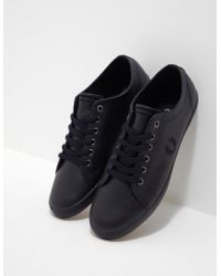Fred Perry - Mens Kingston Leather Black - Lyst
