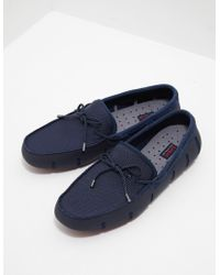 Swims - Mens Braid Lace Loafers Navy - Lyst