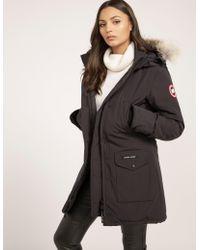 Canada Goose - Womens Trillium Padded Parka Jacket Navy Blue - Lyst