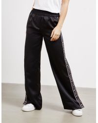 Tommy Hilfiger - Womens Icon Flare Track Trousers - Online Exclusive Black - Lyst