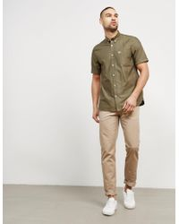 Fred Perry - Mens Short Sleeve Oxford Shirt Khaki - Lyst
