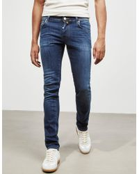Jacob Cohen - Mens 622 Multi Stitch Skinny Jeans Blue - Lyst