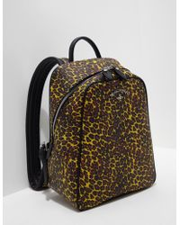 Vivienne Westwood - Womens Anglomania Leopard Backpack Yellow - Lyst