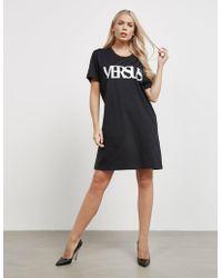 Versus - Womens Logo T-shirt Dress Black - Lyst