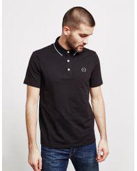 Armani Exchange - Mens Tipped Short Sleeve Polo Shirt Black - Lyst