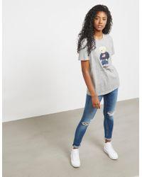 Polo Ralph Lauren - Womens Bear Short Sleeve T-shirt Grey - Lyst