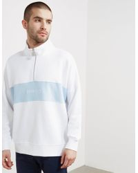 Penfield - Mens Hosmer Half Zip Sweatshirt White - Lyst