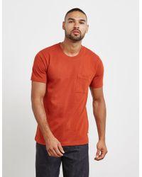 Nudie Jeans - Mens Worker Short Sleeve T-shirt Orange - Lyst