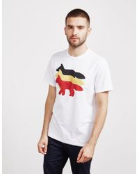Maison Kitsuné - Foxes Short Sleeve T-shirt - Online Exclusive White - Lyst