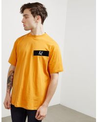 Fred Perry - Mens X Raf Simons Tape Short Sleeve T-shirt Orange - Lyst