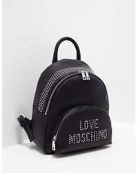 Love Moschino - Womens Stud Backpack Black - Lyst